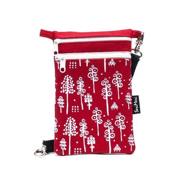 Kännykkälaukku, Pöllö, ice pink pellava – Mobile Bag, Owl, ice pink