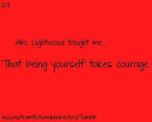 From Alec Lightwood. If they cut his actual character from the movie so help me God...