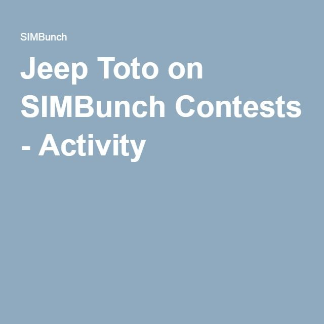 Jeep Toto on SIMBunch Contests - Activity