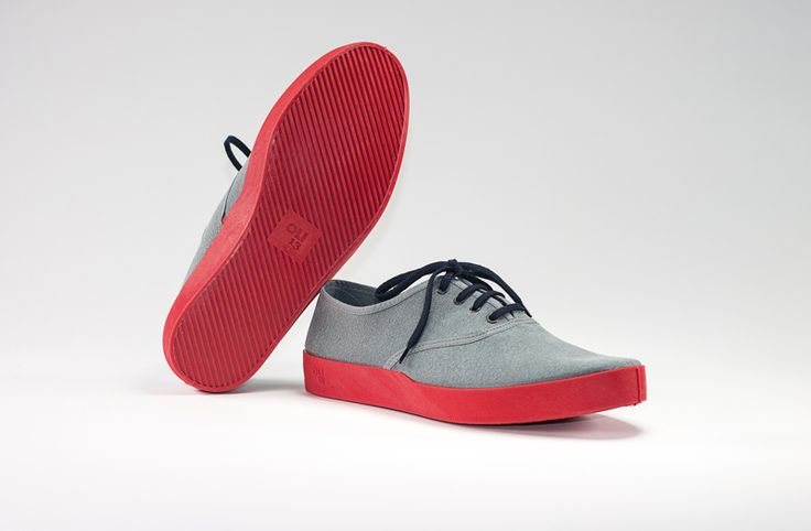 Oli13 Man Collection - OXFORD GREY-RED CANVAS