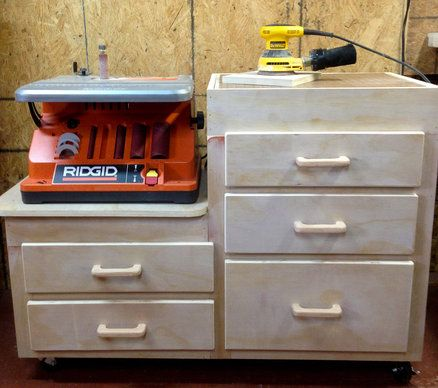 Oscillating Sander and Down Draft Cabinet