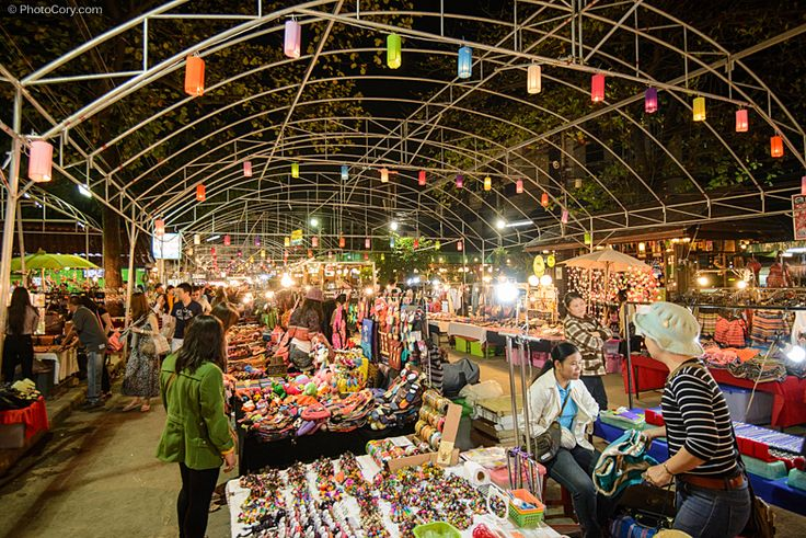 Shopping at the markets in Chang Mai