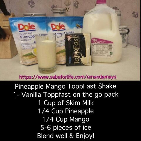 Pineapple Mango Toppfast Shake Saba ACE Weight Loss https://www.sabaforlife.com/transformation