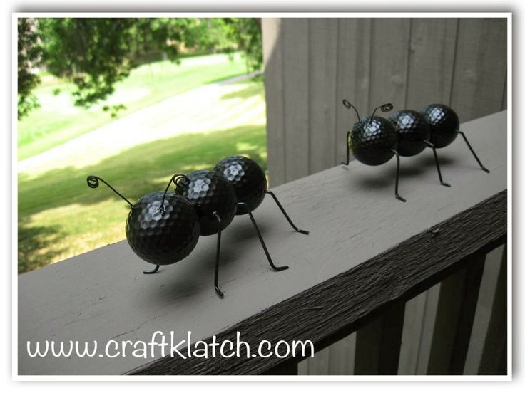 ant craft, decor, decorations, diy, do it yourself, golf ball craft, golf balls, outdoor craft, recycle, recycle craft, recycling, recycling...