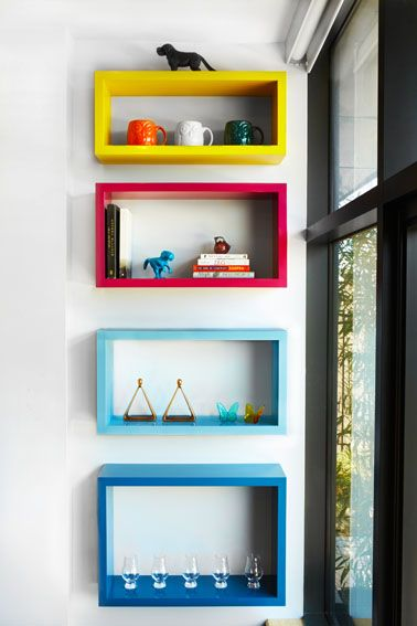 Love this look for shelves in a kid's room