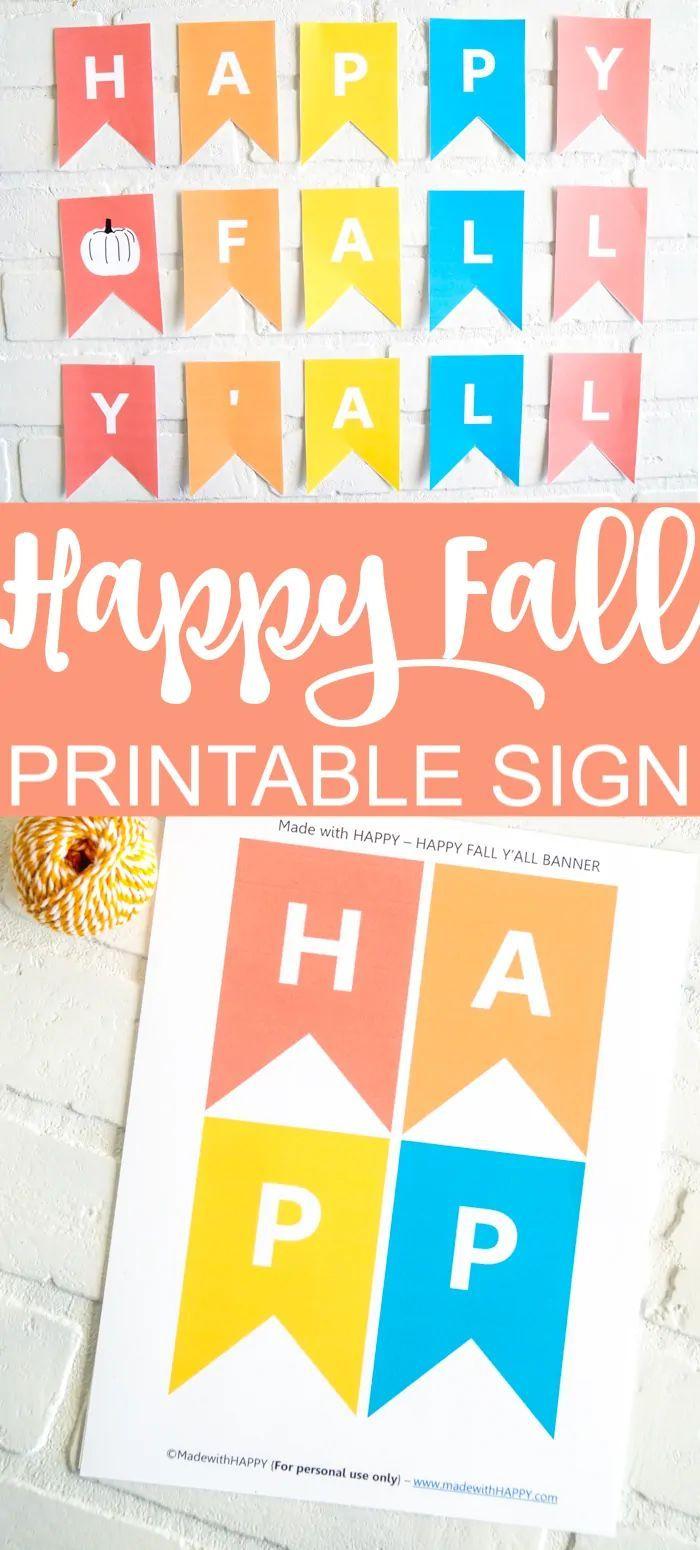 Happy Fall Yall Sign Happy Fall Y All Happy Fall Free