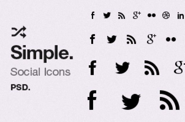 This very useful set is comprised of 22 social icons in vector mask layers on one practical psd.