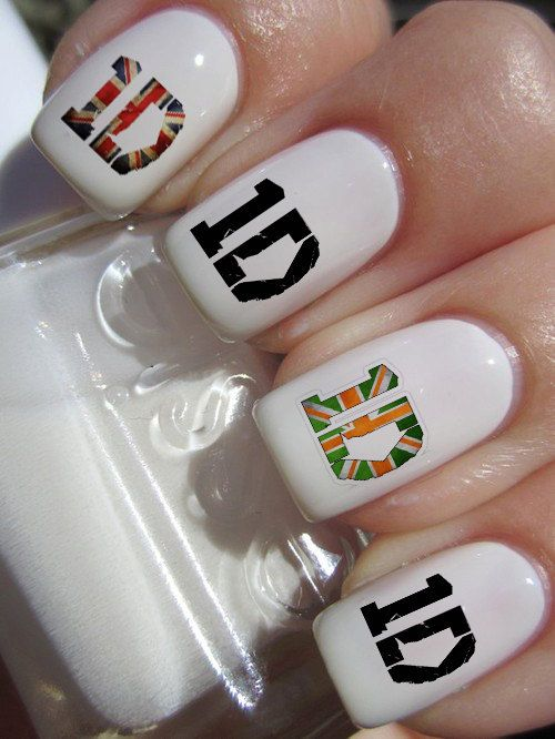 ∞ One Direction [1D] → One Direction 1D Logo Nail Art Decals