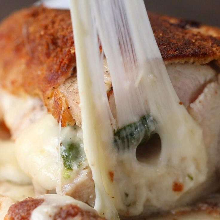 Ham, Cheese, And Spinach-stuffed Chicken Recipe by Tasty