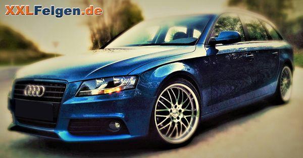Audi A4 B8 mit 19 Zoll Alufelgen DOTZ Mugello black polished