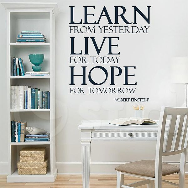 Wall Sticker LEARN LIVE HOPE by Sticky!!!
