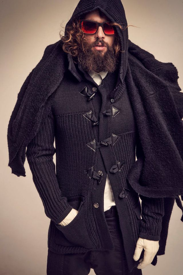 witch male mens pagan witchy knitwear christopoulos spyros tailormade modern clothing clothes chic bohemian coven boho hair beard beards guys