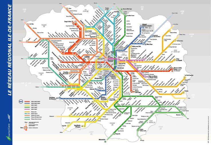 Paris metro rer public transport maps pinterest - Tegel metro parijs ...