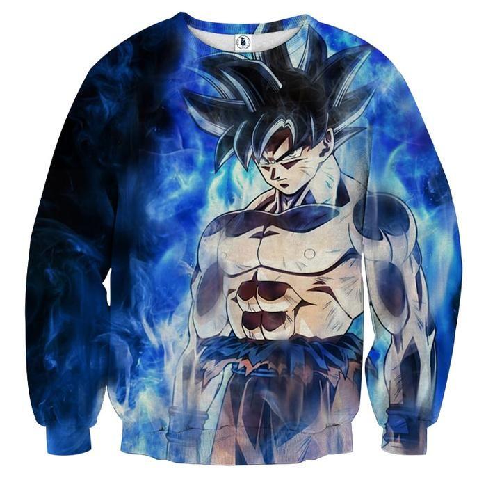 Dragon Ball Super Goku Ultra Instinct Blue Kaioken Cool Sweater