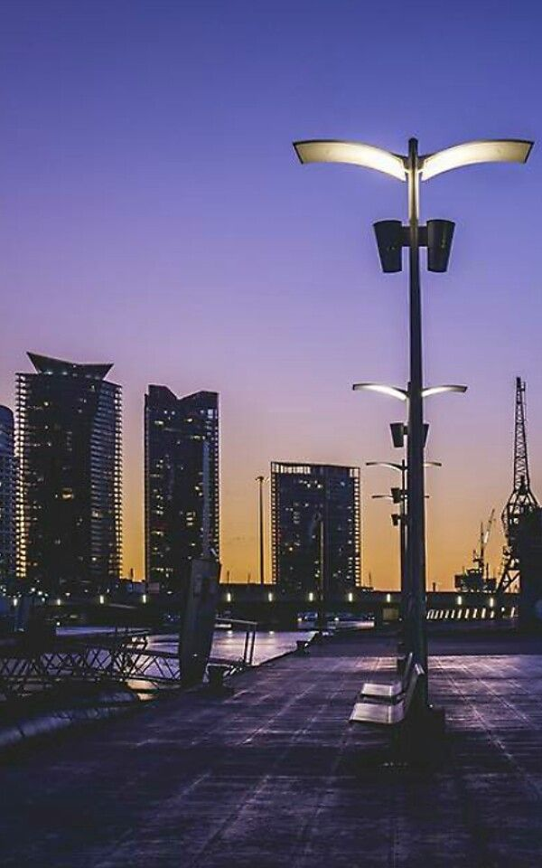 Melbourne sunset at Docklands