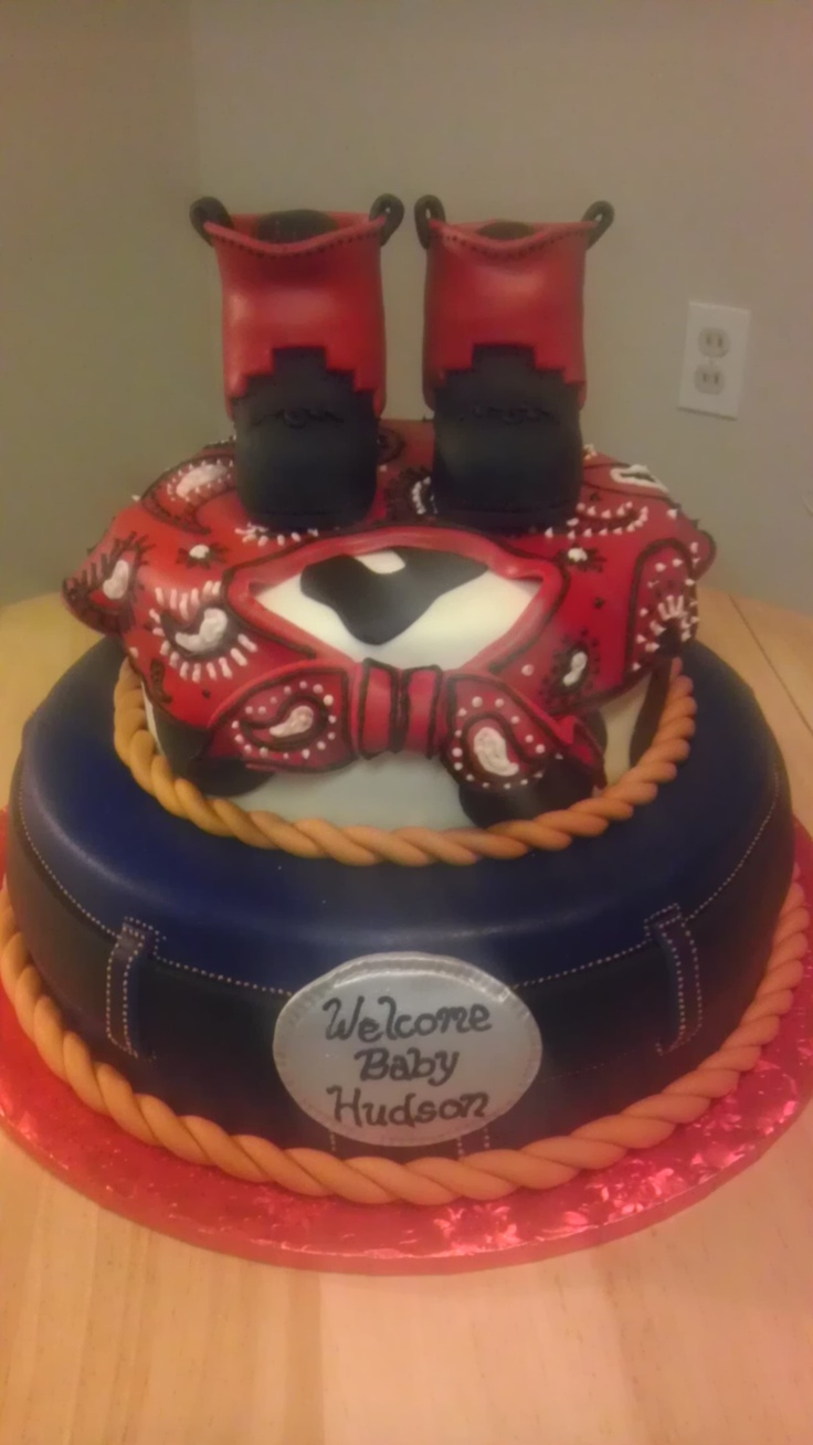 cowboy baby shower cake my cakes pinterest boys babies and