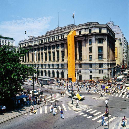 Guto Lacaz, Periscópio installation art, part of exibition Arte Cidade in São Paulo, 1994 the building is a historical neoclassic in São Pau...