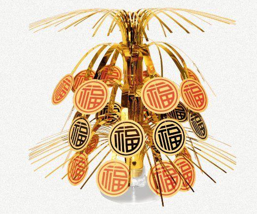 2 Stück TISCHKASKADEN - CHINESE - 21 cm, China Chinesisches Neujahrsfest Neujahr Frühlingsfest Raumdekorationen Tischdekorationen Asiatisch Affen Drachen Fische Zeichen