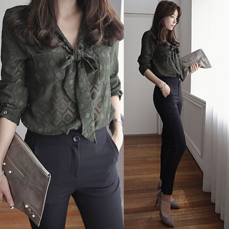Sexy Women Summer Office Work Wear Shirt Ladies Loose Casual Top Business Blouse #Unbranded #Blouse #Casual