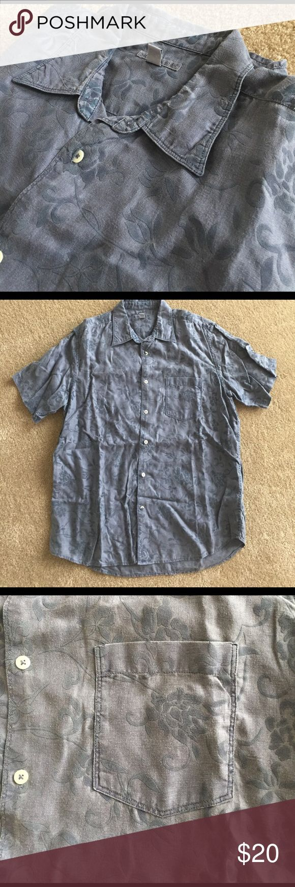 MARTIN LONDON MENS LINEN SHIRT L Used but in perfect condition.  Requires ironing as it just came out of box.  Nordstrom purchase.  100% linen. Perfect spring/summer shirt. martin gordon Shirts Casual Button Down Shirts