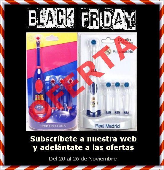 Black Friday - Cepillos de dientes Real Madrid y Barça