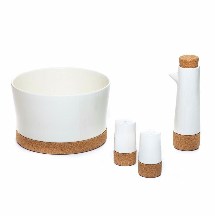 Amorim Soul Mate Oil & Vinegar Set - Designer Series. Cork has long been used as a stopper, mostly for wine, but in ancient Egypt and Greece it was already used to seal large ceramic jars to store not only wine but also olive oil.
