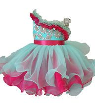 MINIGlitz Cupcake Pageant Dress Little Girl Kids Baby Infant Toddler Formal Wear