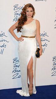 Kelly Brook One Shoulder Dress