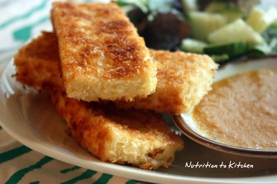 panko crusted fried tofu