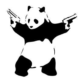 Banksy-Panda with Guns Stencil