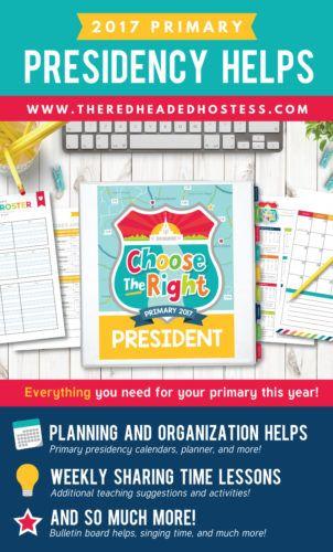 2017 LDS Primary Presidency Helps