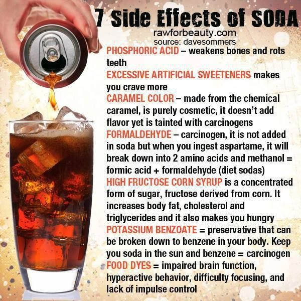the horrible effects of drinking soda From brain to pancreas damage, learn why it's best to avoid it  beyond that,  there's lots of research linking diet soda drinking to all sorts of health troubles.