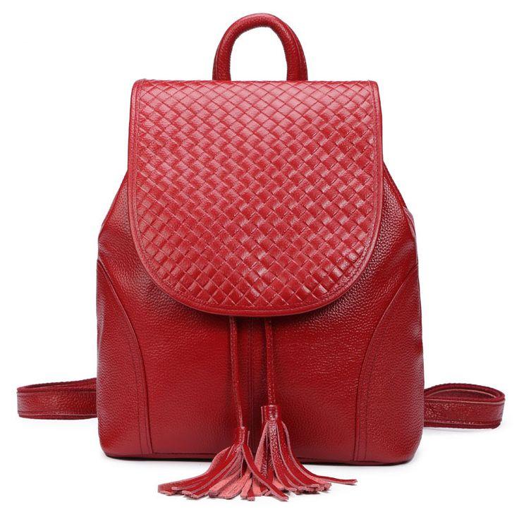 2016 nuevo estilo mochila de cuero para mujeres tienda online de bolsos de cuero auténtico [AS90034] - €56.43 : bzbolsos.com, comprar bolsos online