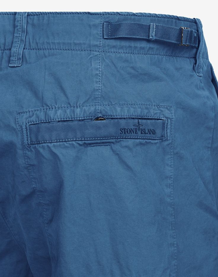 LLBWN Brushed Cotton Bermuda Shorts in Blue