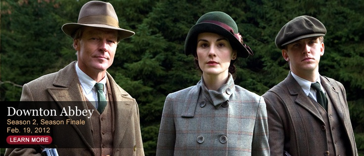 If you haven't seen Downton Abbey's new season--you should while you still can for free on pbs website