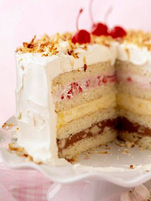 Old Fashioned Ice Cream Sundae Cake