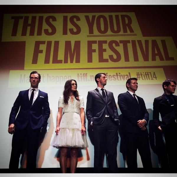 The cast of THE IMITATION GAME at #TIFF14 | @ImitationGame http://twitter.com/TIFF_NET/status/509470210018250752/photo/1