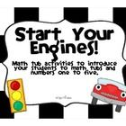 New Lower Price!! Start Your Engines!  These great math tub activities are perfect for training how to use math tubs and developing number sense using numbers one to...