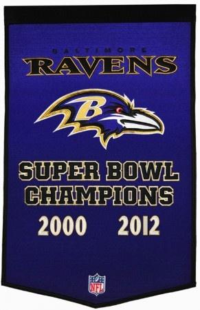 Baltimore Ravens Super Bowl Champions Banner