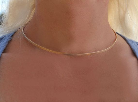 Fairytale Slave Collar Gold Choker Necklace by 88Links on Etsy, $15.00
