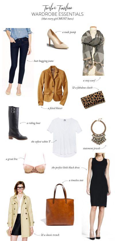 12 timeless wardrobe essentials! http://www.stylemepretty.com/living/2013/11/14/12-timeless-wardrobe-essentials/