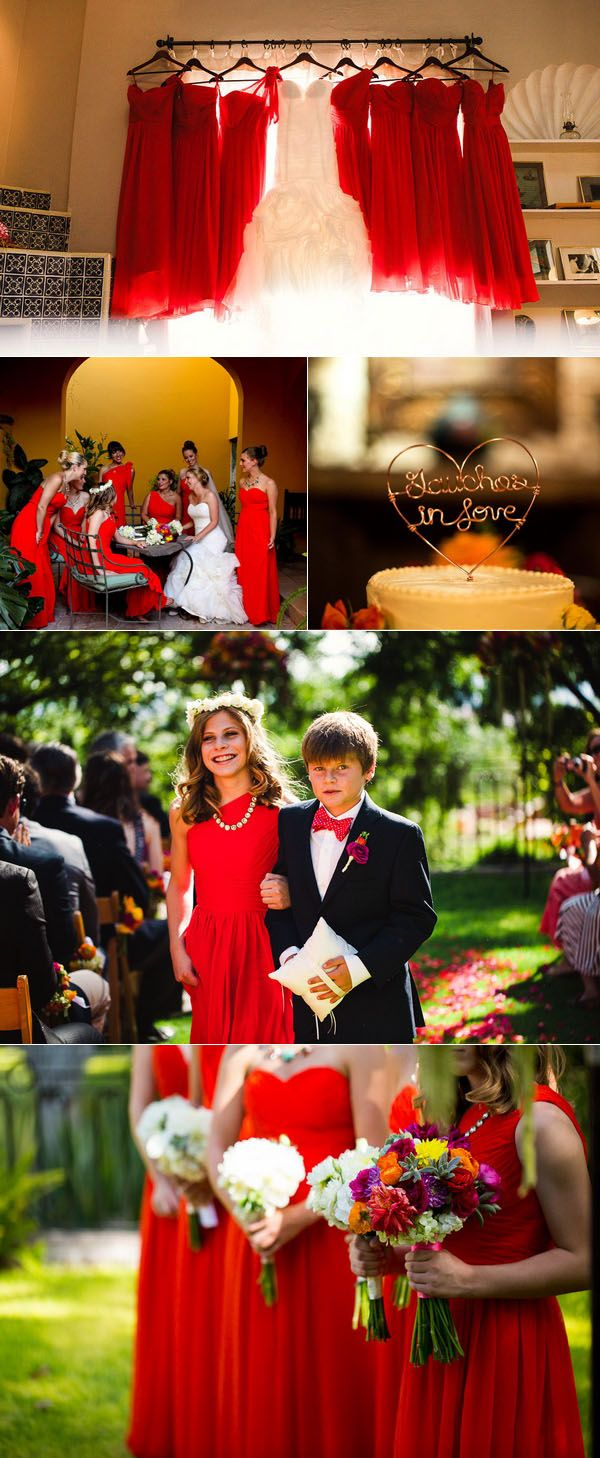black and red country weddings
