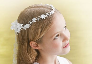 First Communion Hair Pieces - Bing images