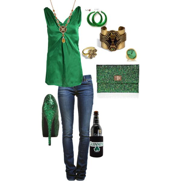 St Patrick's Day outfit, created by aynanderson cute bar outfit