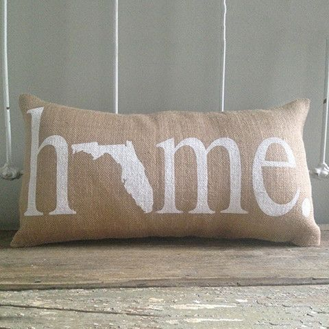 """Florida """"Home"""" Pillow perfect for any student moving out of state."""