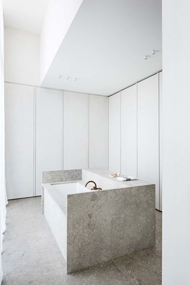 Bathroom - Penthouse in Antwerp by Hans Verstuyft
