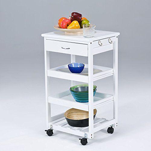 Nice SoBuy Wooden Kitchen Trolley with Shelves u Drawers Hostess Trolley Kitchen Storage Rack