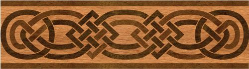 """Celtic"": wood flooring inlaid border design. Multiple species, can be sanded and refinished. #border #floorborder #woodfloorborder #woodfloor #wood #woodworking #woodfloordesign #inlay #intarsia #art #design #floor #functionalart #hardwoodfloor #inlaid #marquetry #pattern #parquet #woodinlay"
