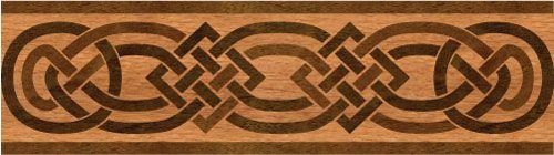 """Celtic"": wood flooring inlaid border design. Multiple species, can be sanded and refinished. #border #floorborder #woodfloorborder #woodfloor #wood #woodworking #woodfloordesign #inlay #intarsia #art #design #floor #functionalart #hardwoodfloor #inlaid #marquetry #pattern #parquet #woodinlay"