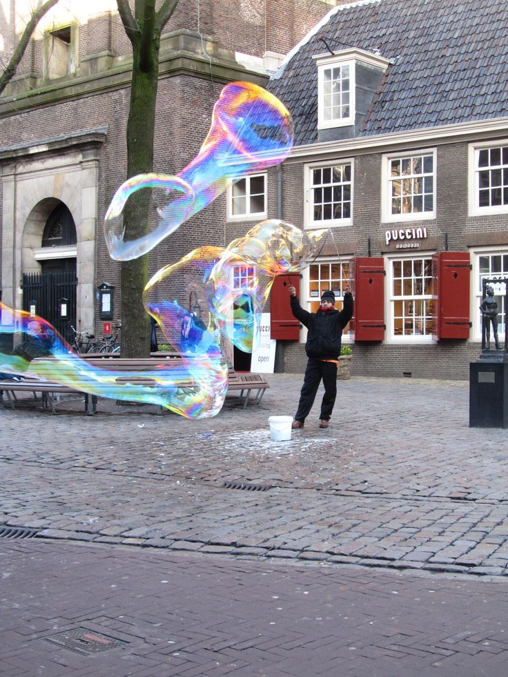 Street performance at Amsterdam